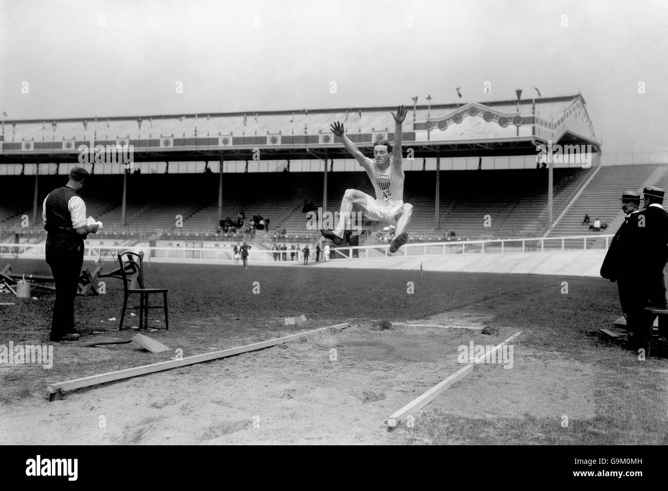 Athletics - London Olympic Games 1908 - Long Jump - Final - White City Stock Photo