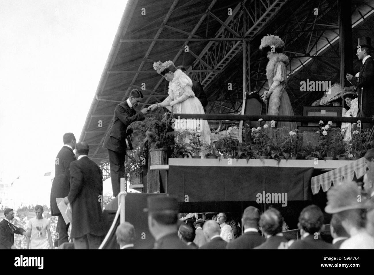 London Olympic Games 1908 - Prize-Giving Ceremony - White City - Stock Image