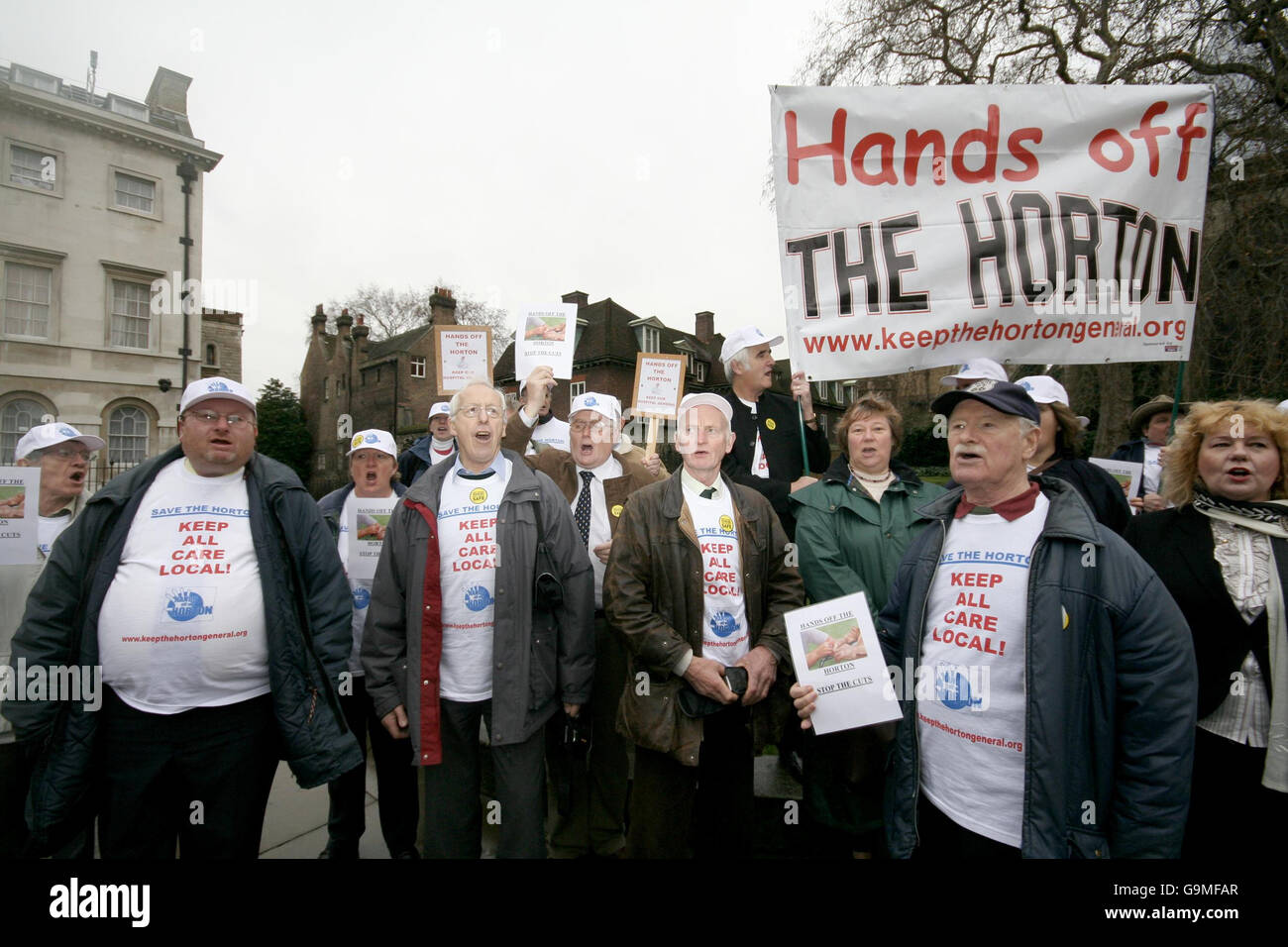 Hospital closures protest - Stock Image