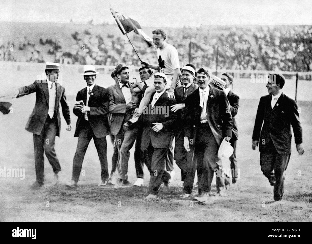 Athletics - London Olympic Games 1908 - 200m - Final - White City - Stock Image