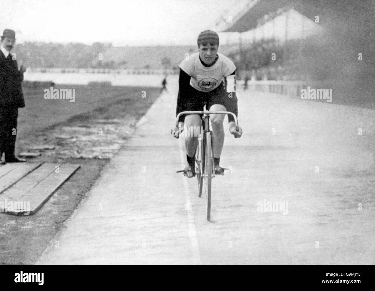 Cycling - London Olympic Games 1908 - 5000m - Final - White City - Stock Image
