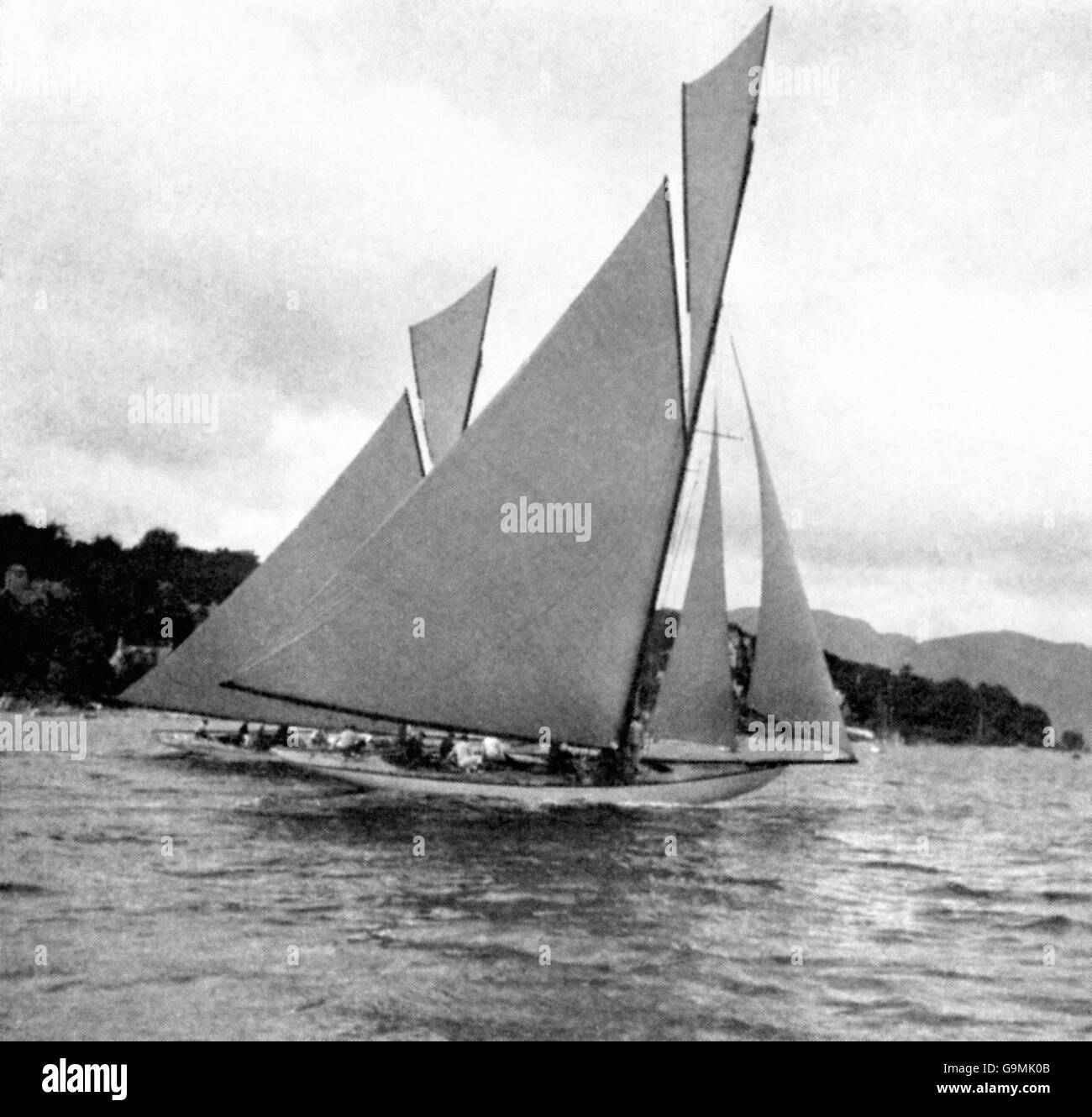 Yachting - London Olympic Games 1908 - 12m Class - River Clyde Stock Photo