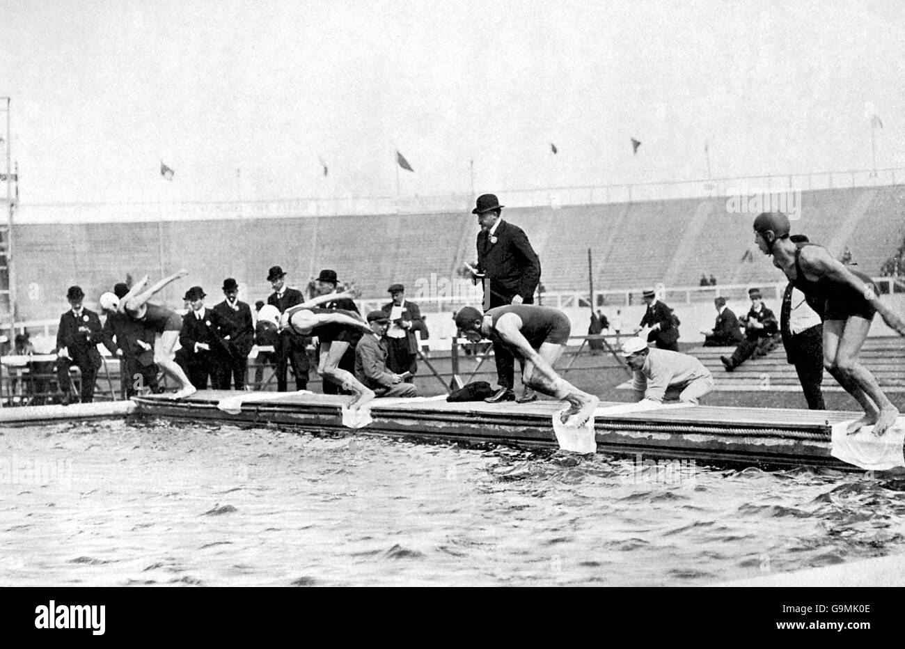Swimming - London Olympic Games 1908 - 200m Breaststroke - Final - White City - Stock Image