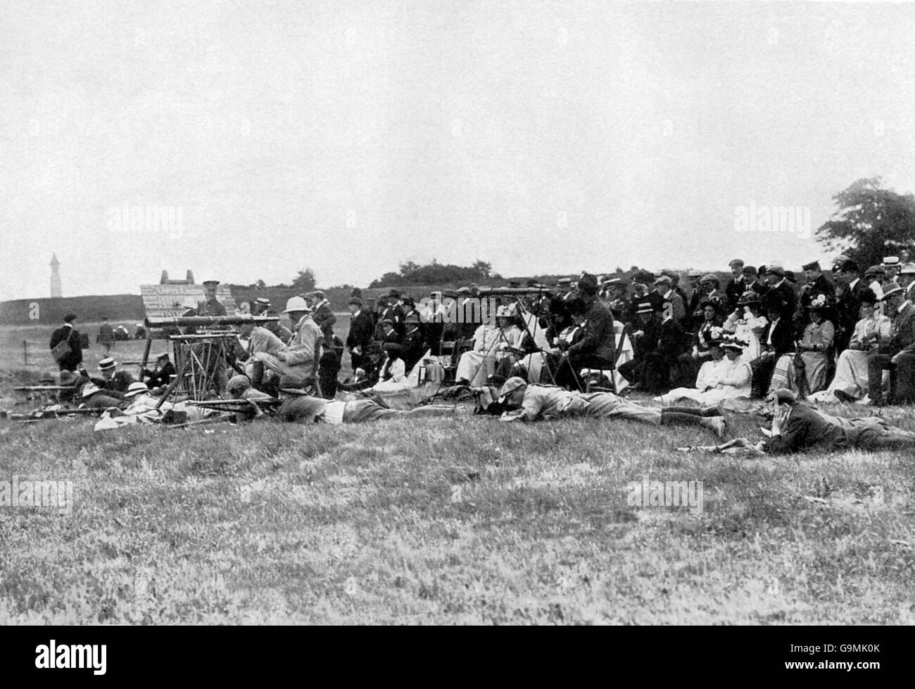 Shooting - London Olympic Games 1908 - Free Rifle - Bisley - Stock Image