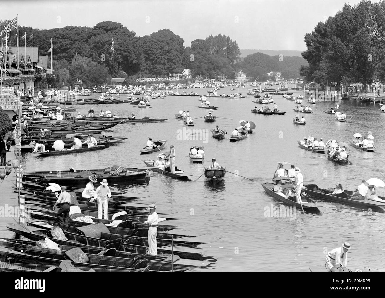 Rowing - London Olympic Games 1908 - Coxed Eights - Final - Henley - Stock Image
