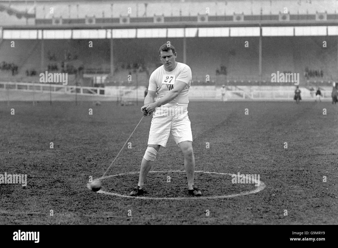 Athletics - London Olympic Games 1908 - Hammer - White City - Stock Image