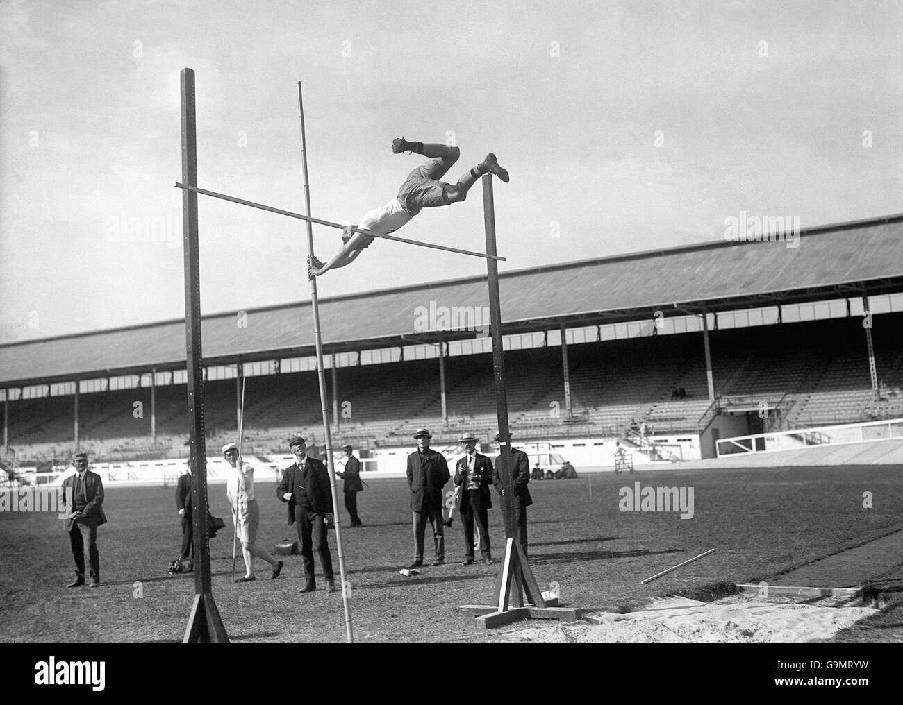 Athletics - London Olympic Games 1908 - Pole Vault - Final - White City Stock Photo