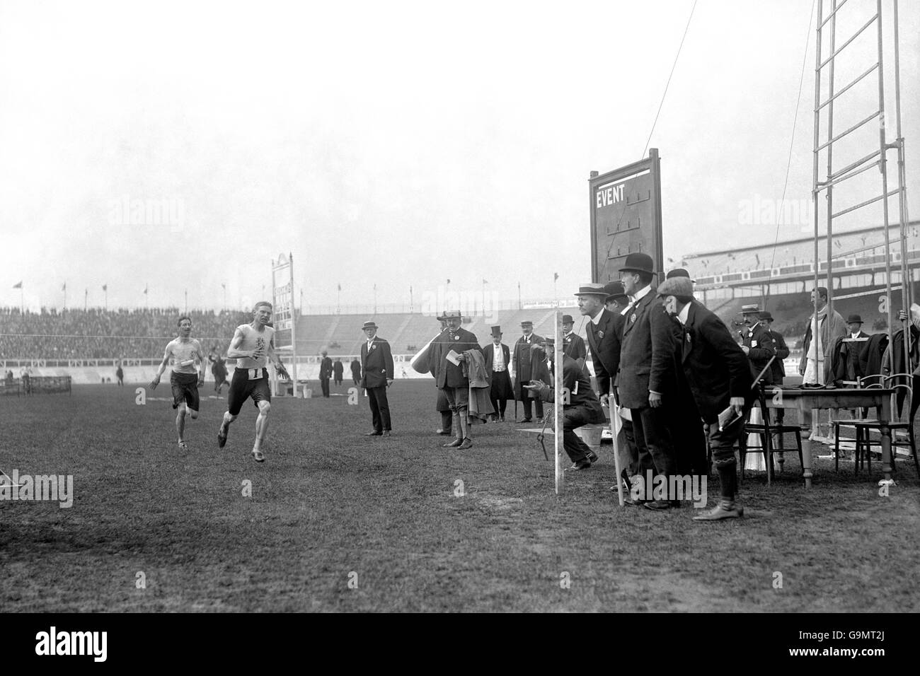 Athletics - London Olympic Games 1908 - 3200m Steeplechase - Final - White City - Stock Image