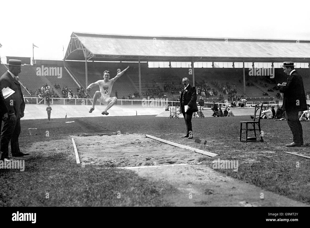 Athletics - London Olympic Games 1908 - Long Jump - Final - White City - Stock Image