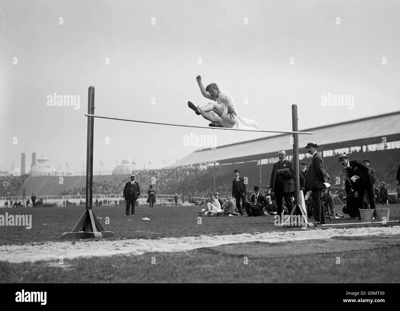 Athletics - London Olympic Games 1908 - High Jump - Final - White City - Stock Image
