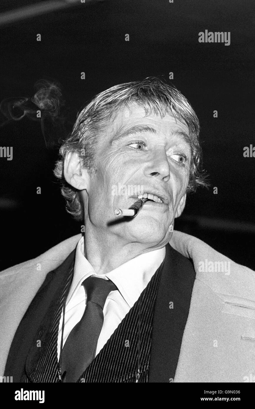 Peter O'Toole - Shaftesbury Theatre - Stock Image