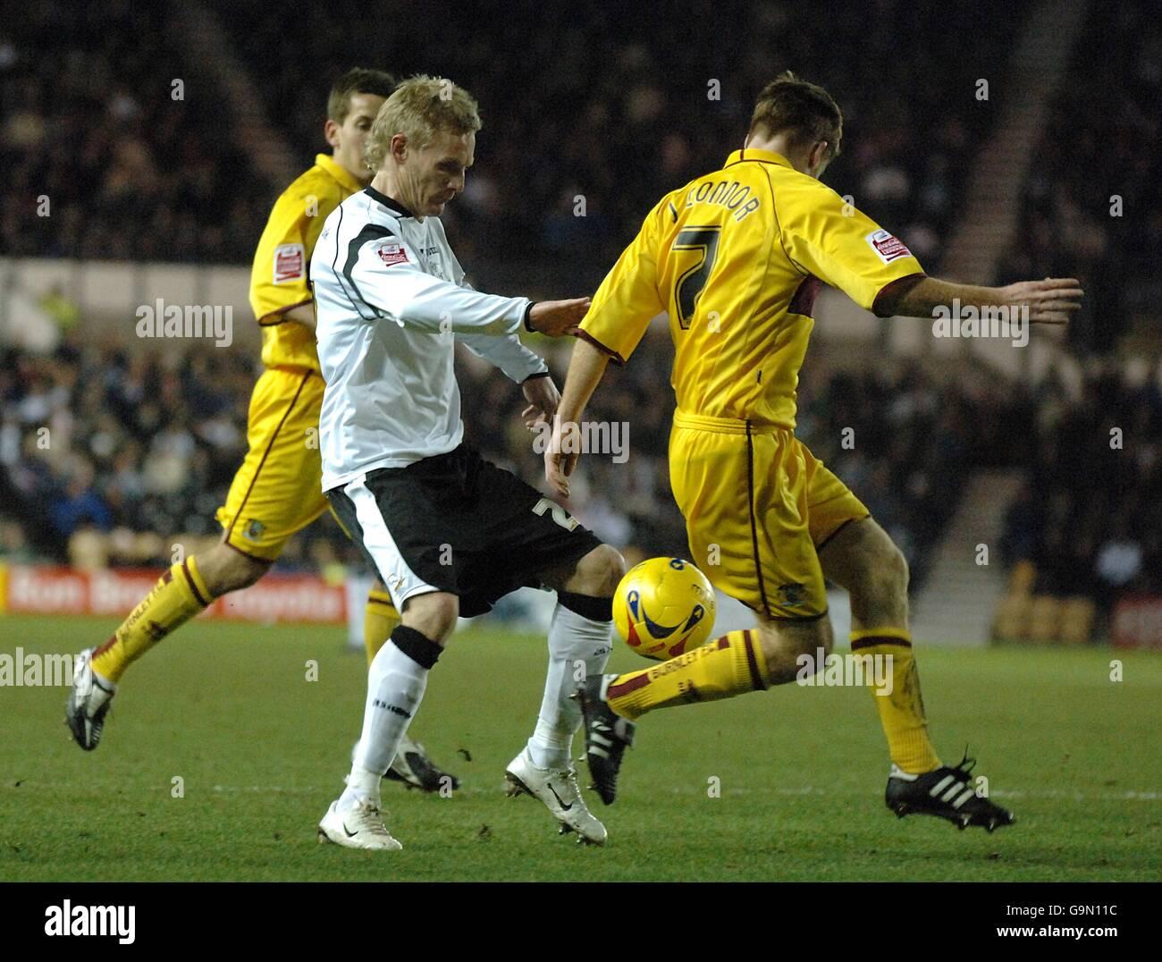 Soccer - Coca-Cola Football League Championship - Derby County v Burnley - Pride Park - Stock Image