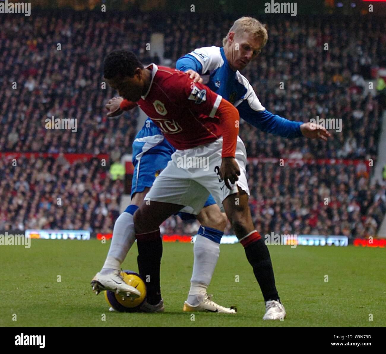 Soccer - FA Barclays Premiership - Manchester United v Wigan Athletic - Old Trafford - Stock Image