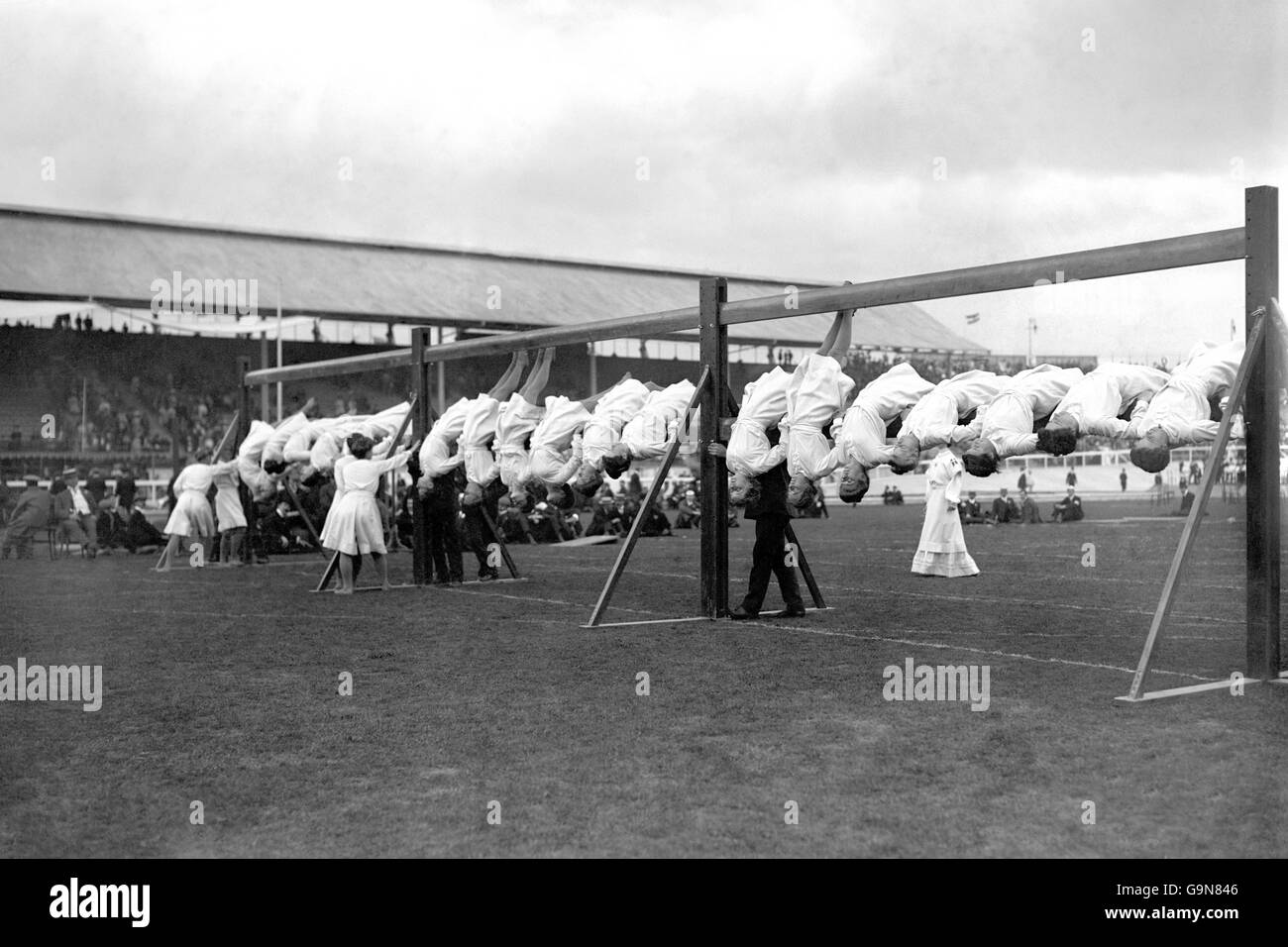 Gymnastics - London Olympic Games 1908 - White City - Stock Image