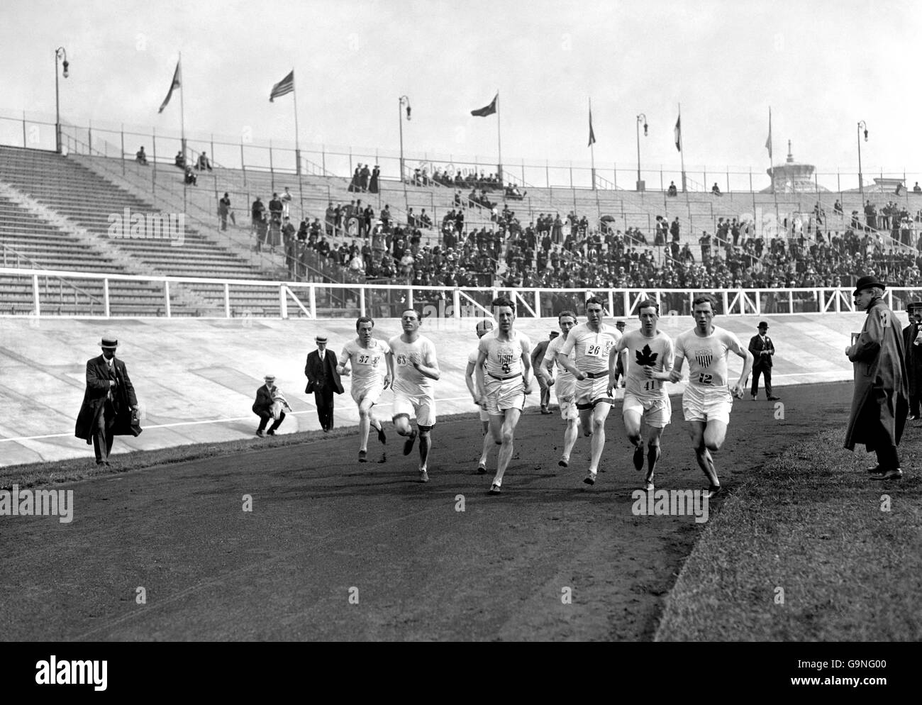 Athletics - London Olympic Games 1908 - 1500m - Final - White City - Stock Image