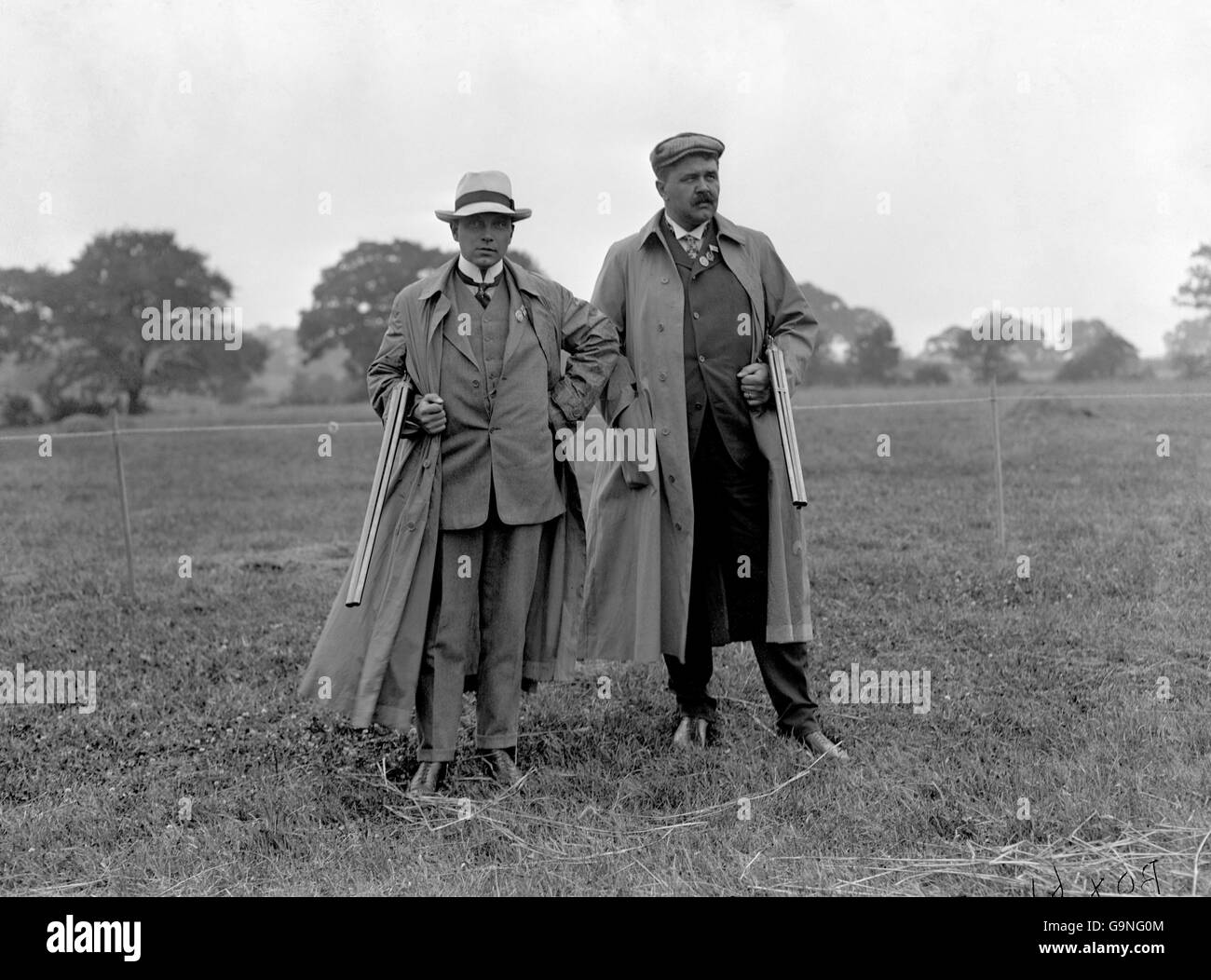 Clay Pigeon Shooting - London Olympic Games 1908 - Team Event - Uxendon Shooting School Club - Stock Image