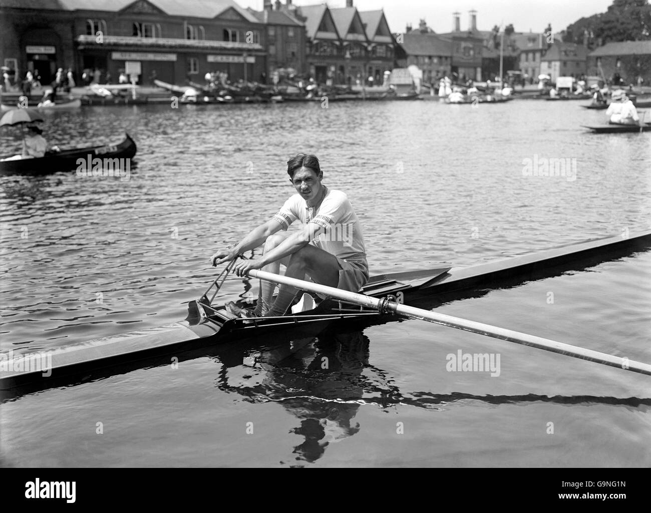 Rowing - London Olympic Games 1908 - Single Sculls - Henley - Stock Image