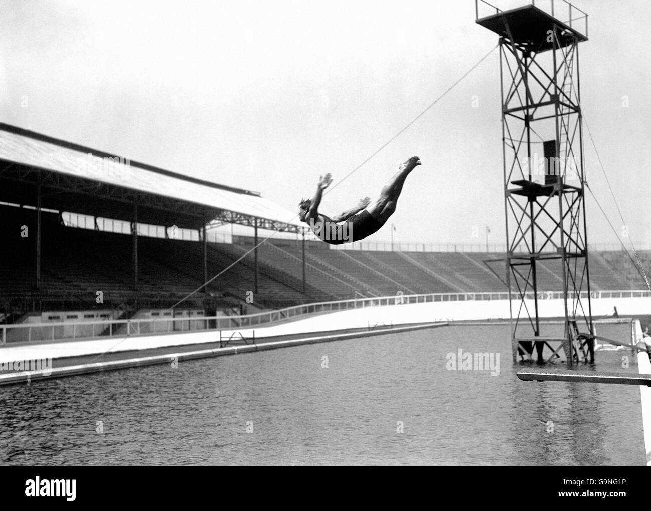 Diving - London Olympic Games 1908 - Springboard - White City - Stock Image