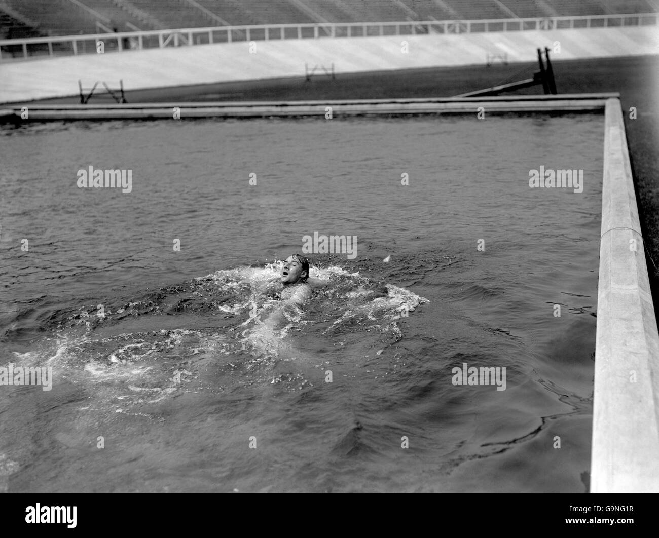 Swimming - London Olympic Games 1908 - White City Stock Photo