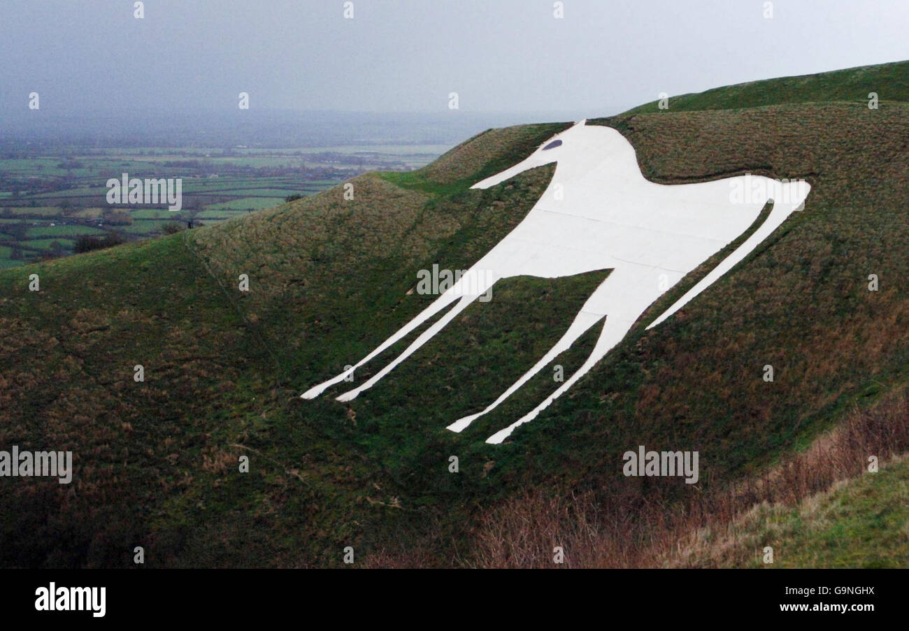 White Horse of Westbury Stock Photo