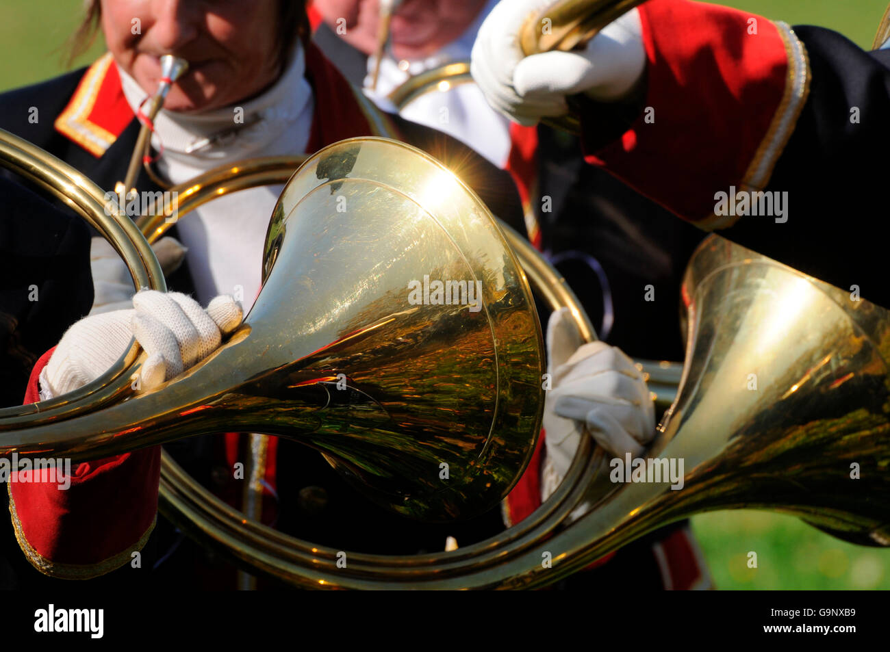 Hunting horn / bugle - Stock Image