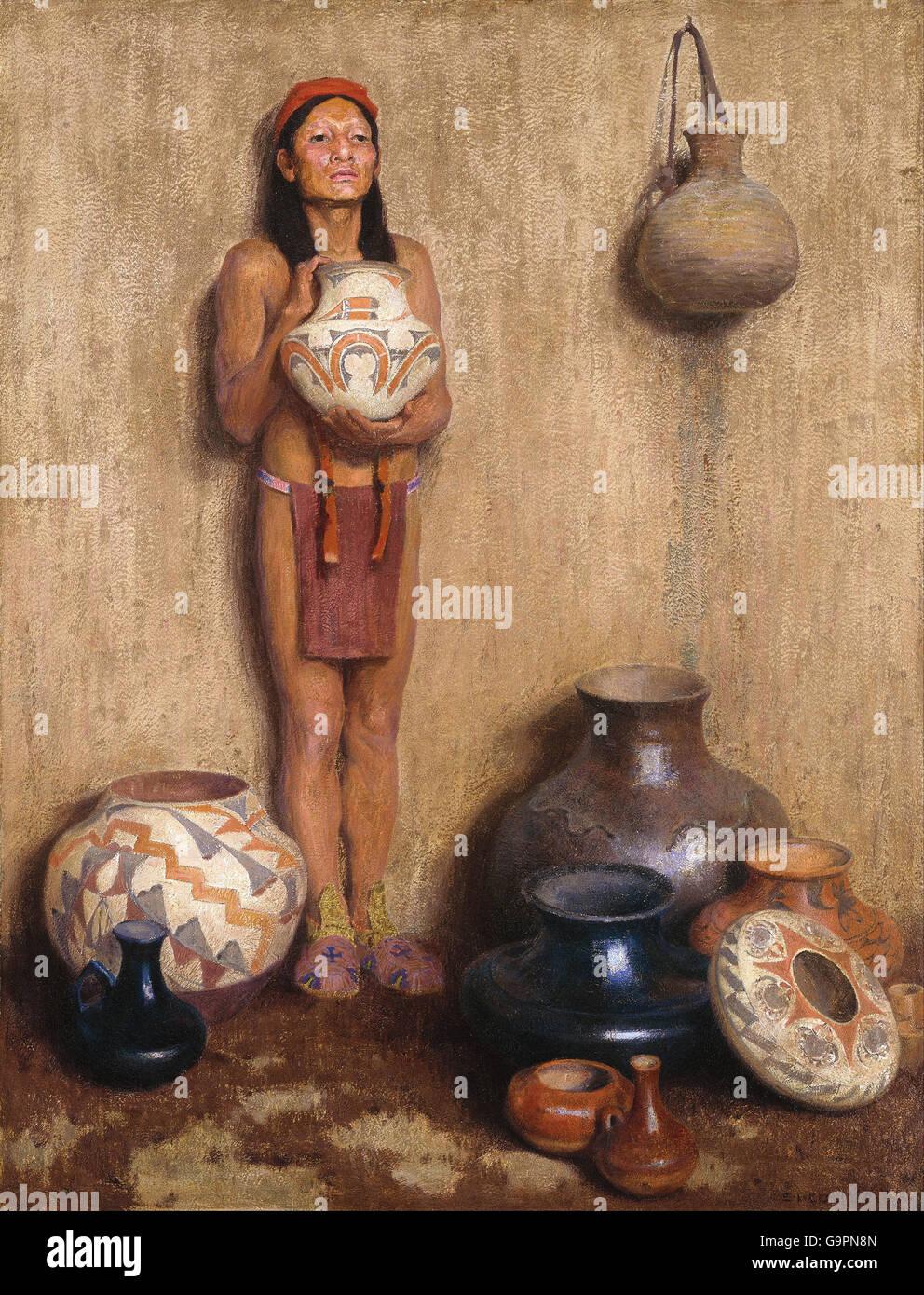 Eanger Irving Couse - Pottery Vendor - Stock Image