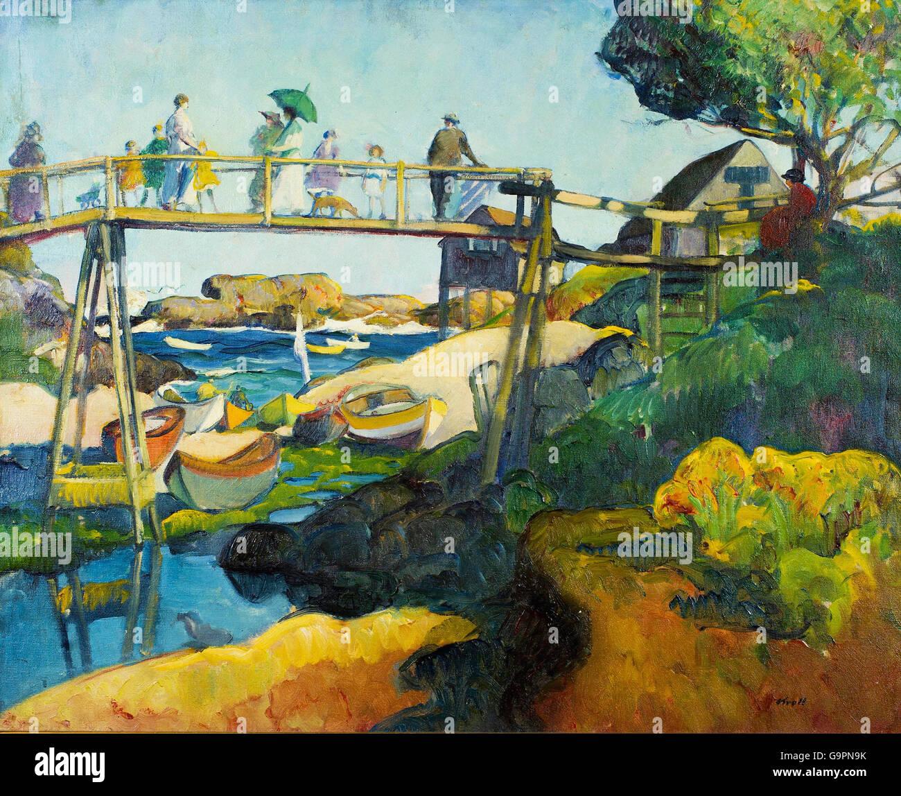 Leon Kroll - The Gay Bridge - Stock Image