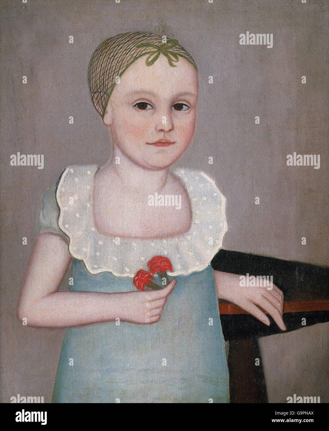 Ammi Phillips - Henrietta Dorr - Stock Image