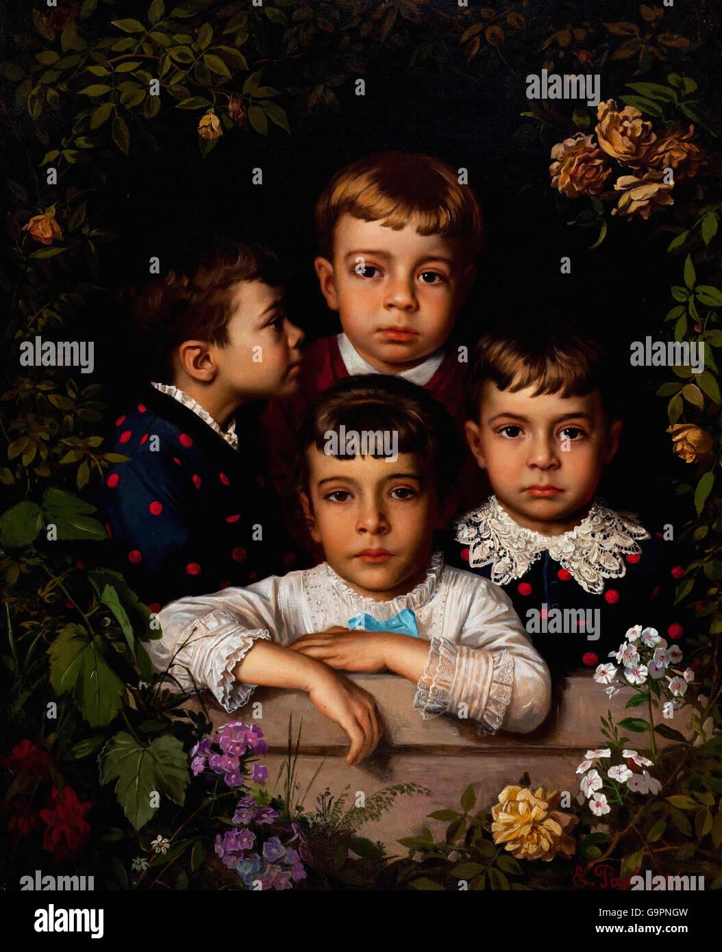 Karl Ernst Papf - Children - Stock Image