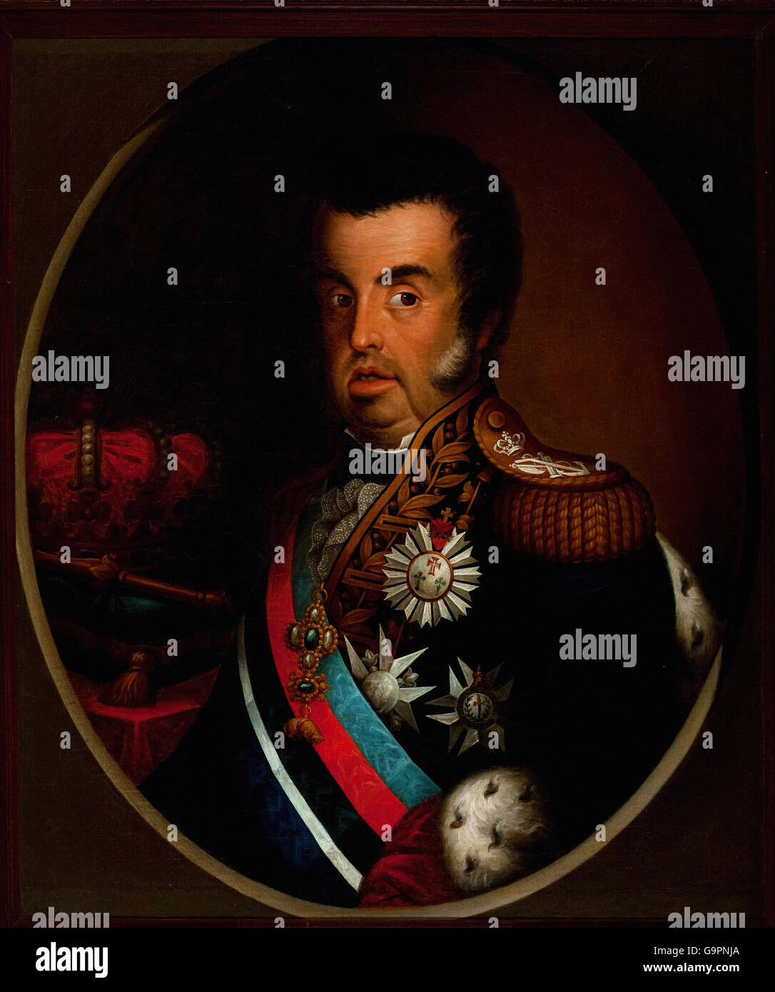 Simplicio Rodrigues de Sa - Portrait of Dom Joao VI (ca. 1820) Stock Photo