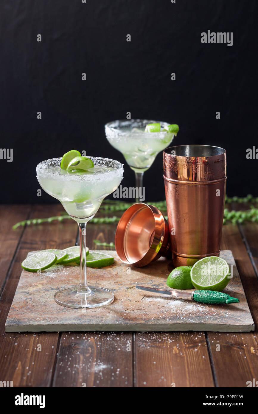 Classic Margarita Cocktails - Stock Image