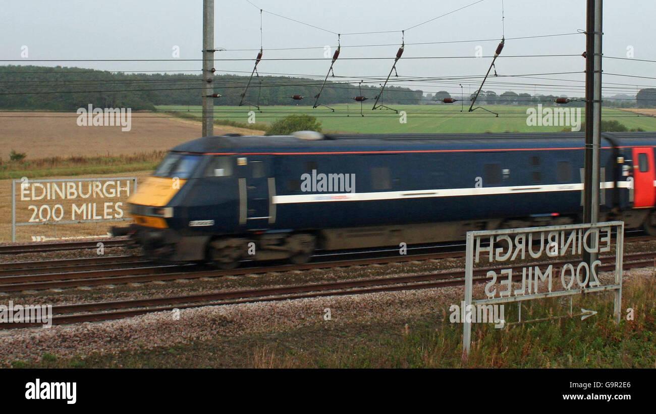 200 Miles from Edinburgh - Stock Image