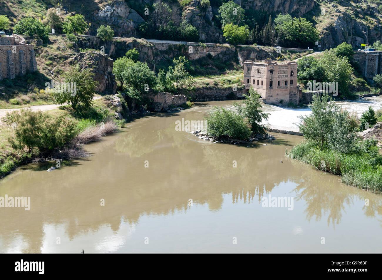 Puente de San Martín in Toledo Spain Europe - Stock Image