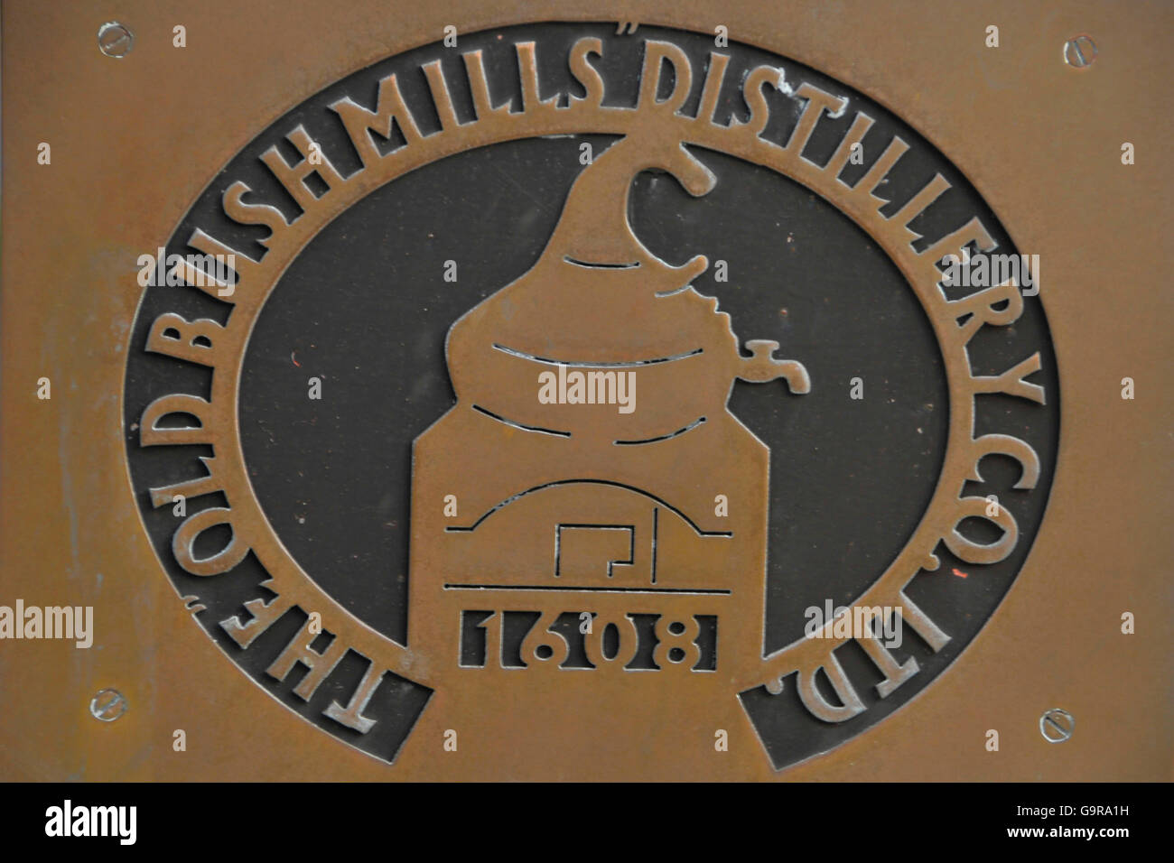 Old Bushmills Distillery, Bushmills, County Antrim, Northern Ireland - Stock Image