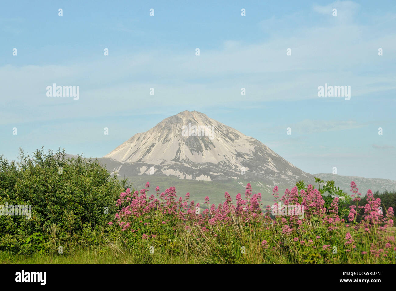 View of Mount Errigal from Gweedore, County Donegal, Ireland - Stock Image
