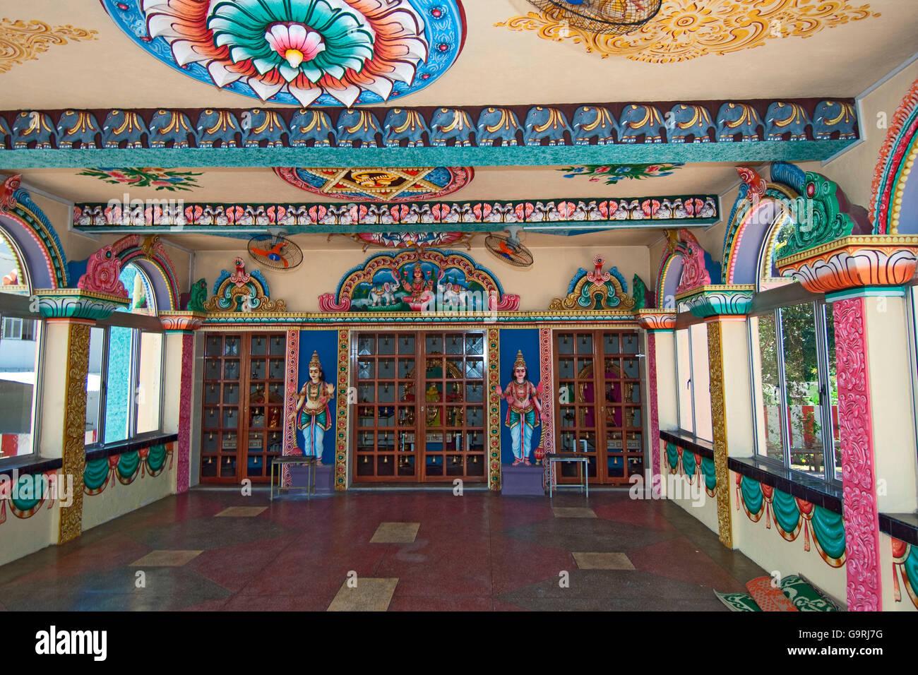 Hindu Ltemple, Mauritius, Africa, Indian Ocean / Ganga Talao Stock Photo