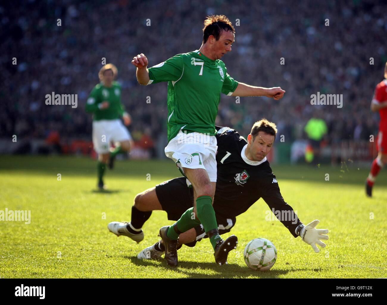 Soccer - UEFA European Championship 2008 Qualifying - Group D - Republic of Ireland v Wales - Croke Park - Stock Image