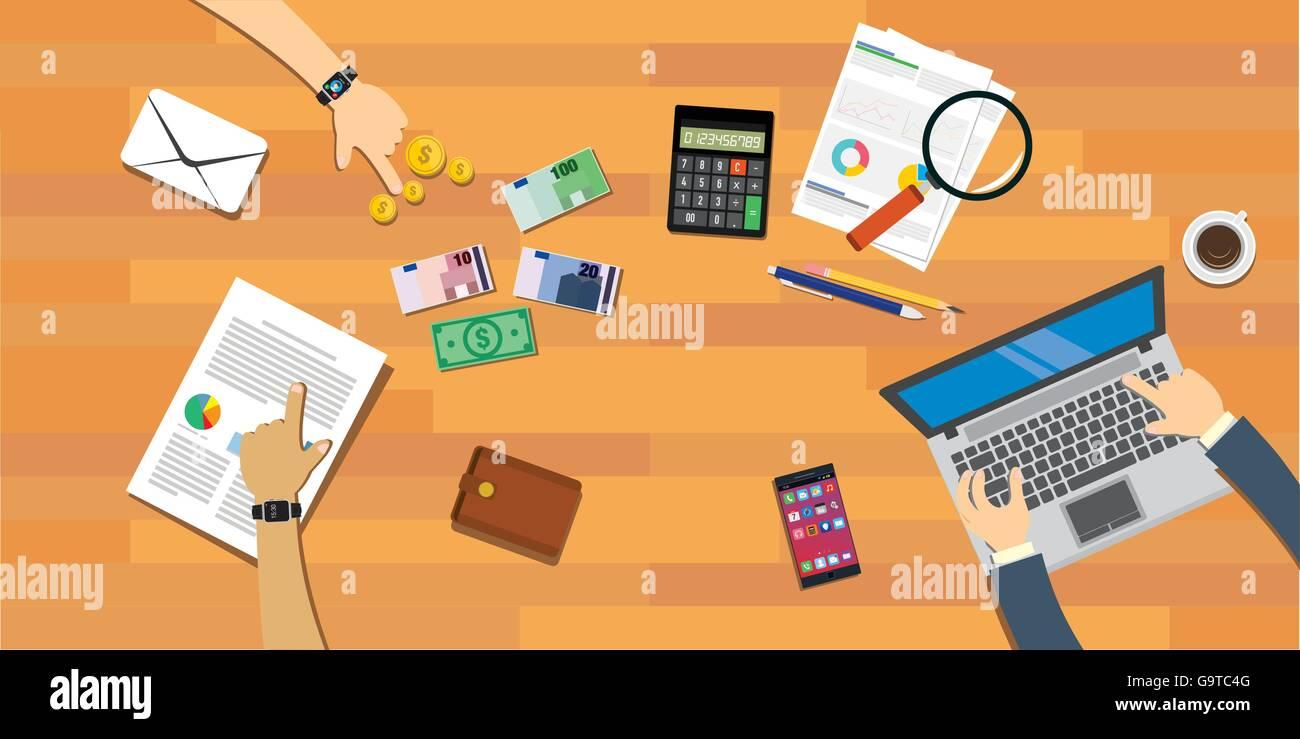 personal finances family budgeting stock vector art illustration