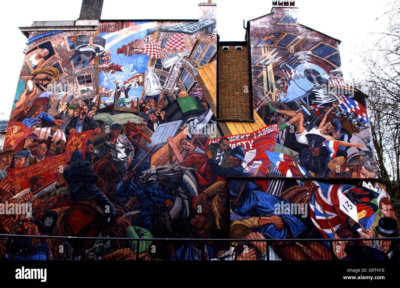 London murals - Stock Image