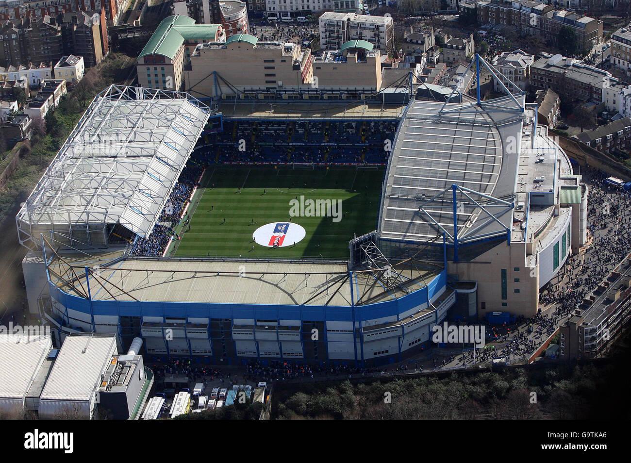 Soccer - Premiere League - Stadia - Chelsea - Stamford Bridge - London - Stock Image