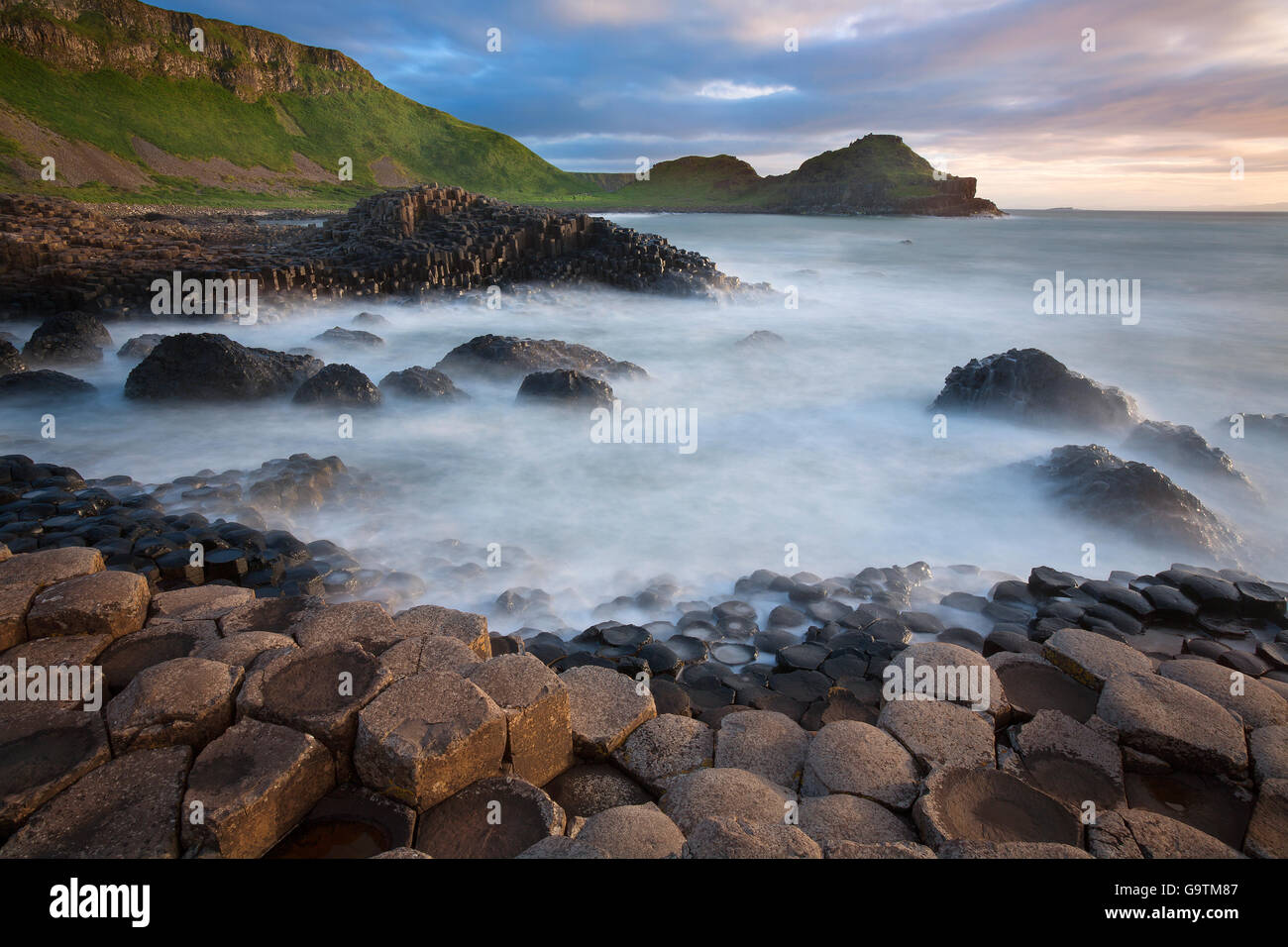 The Giants Causeway in County Antrim in Northern Ireland. A UNESCO World Heritage Site. - Stock Image