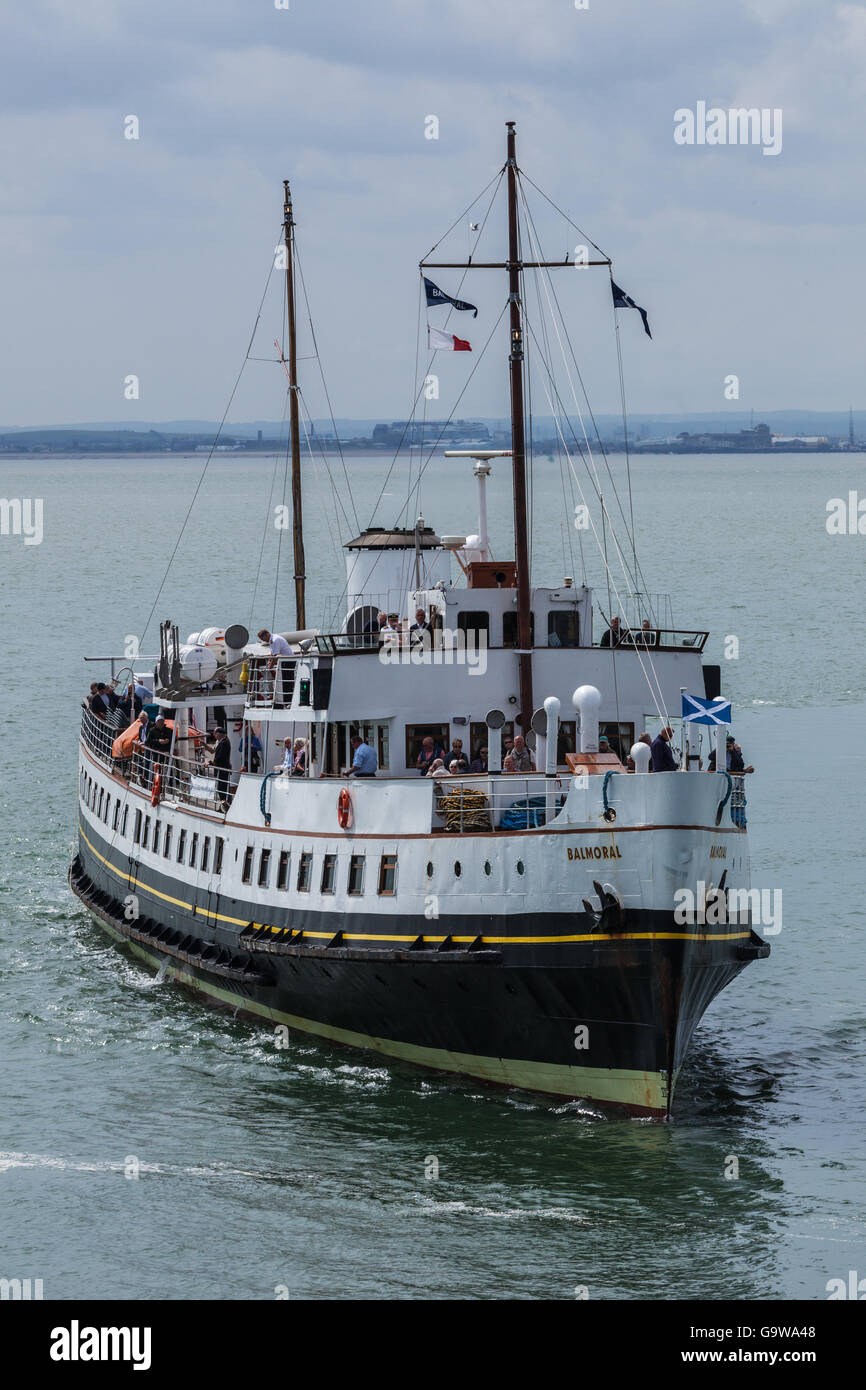 MV Balmoral arriving at Southend-on-Sea Stock Photo