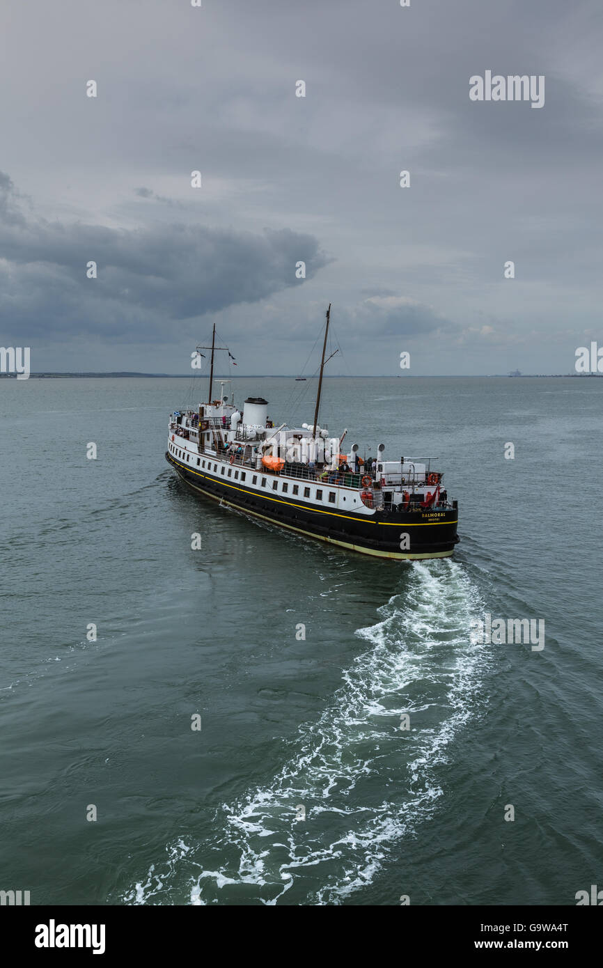 MV Balmoral Departing from Southend-on-Sea Stock Photo