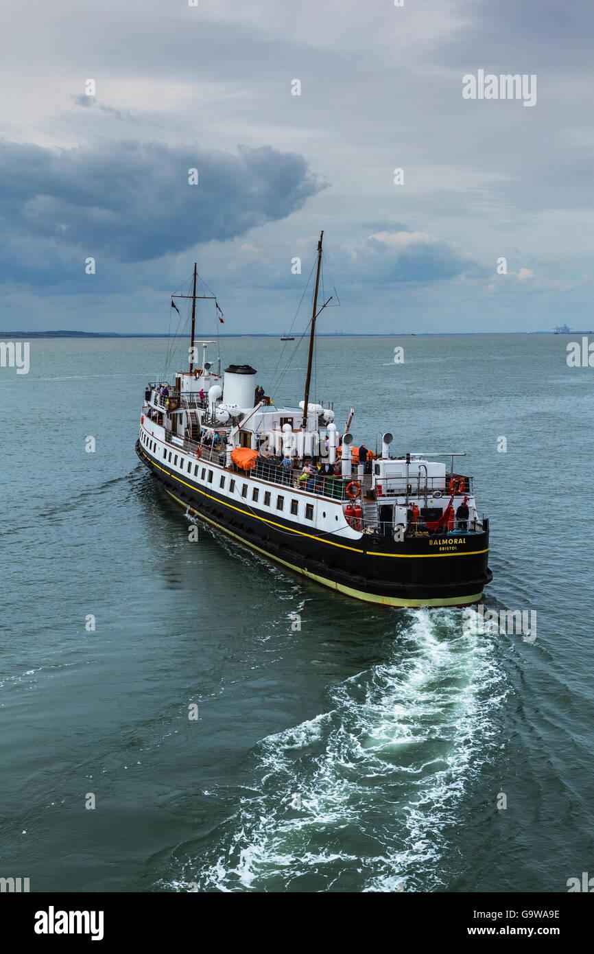 MV Balmoral Leaving Southend-on-Sea Stock Photo