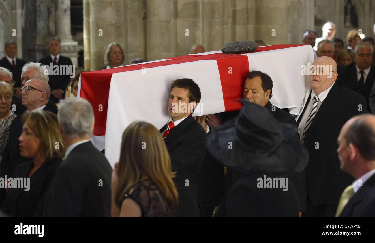 Alan Ball's funeral Stock Photo