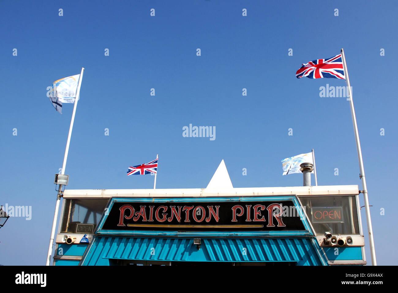 British Holidays - The Seaside - Paignton - 2007 Stock Photo
