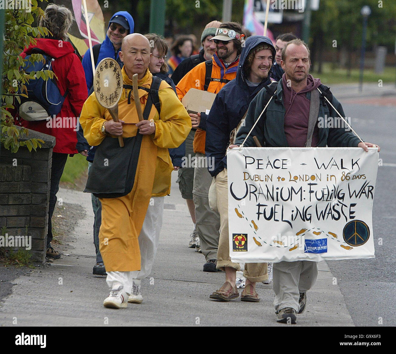 'Towards a Nuclear Free Future' protest walk - Stock Image