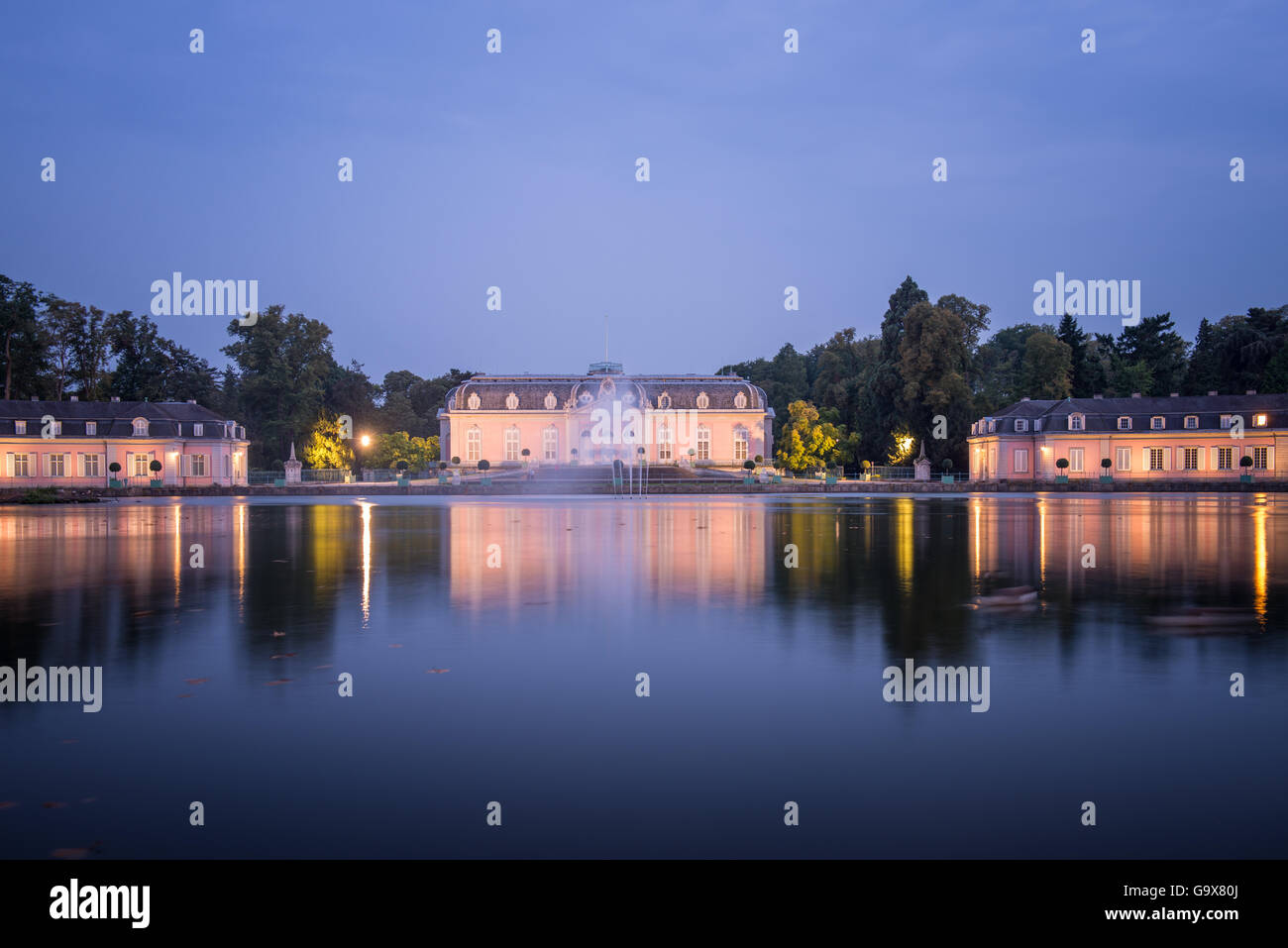 Palace in Dusseldorf Benrath, Germany Stock Photo