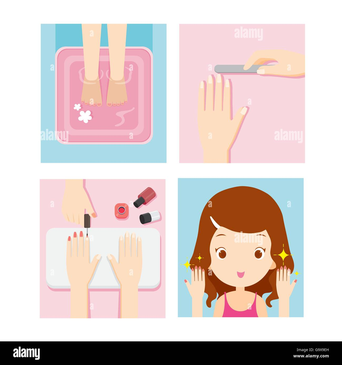 Cartoon Nail Cut Out Stock Images & Pictures - Alamy