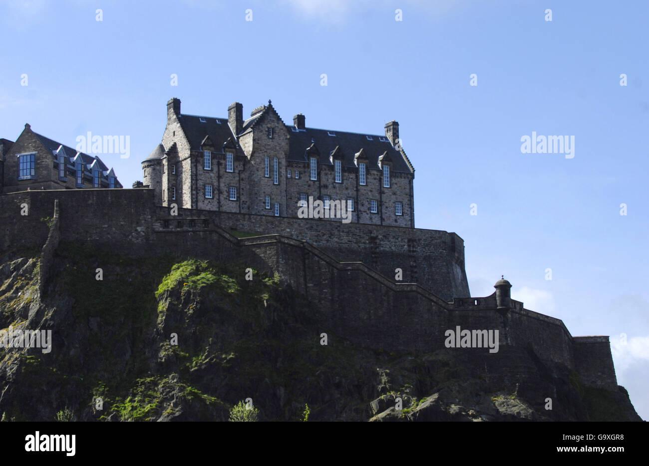 Edinburgh Castle - Scotland - Stock Image